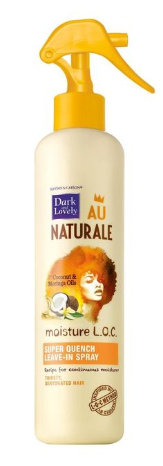 AOneBeauty.com - Dark and Lovely Au Naturale Moisture LOC Super Quench Leave In Spray (8.5oz) (http://www.aonebeauty.com/dark-and-lovely-au-naturale-moisture-loc-super-quench-leave-in-spray-8-5oz/)