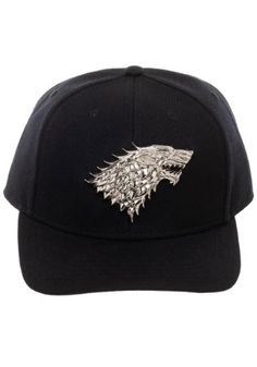 fd06ca38c53c07 Game of Thrones House Stark Snapback w/ 3D Metal Sigil Game Of Thrones Tv,