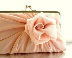 Peach Rose Clutch