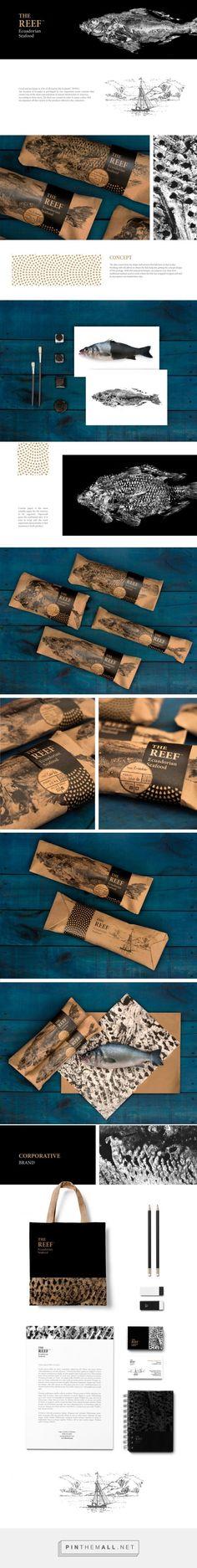 identity / food / THE REEF Ecuadaorian seafood Branding and Packaging by Kubu Design | Fivestar Branding Agency – Design and Branding Agency & Curated Inspiration Gallery