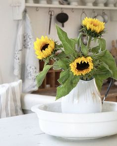 Country Life, Country Living, Sunflower Patch, Sunflower Arrangements, Yellow And Brown, Happy Sunday, Wild Flowers, Fall Decor, Vintage Fashion