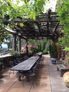 Pergola With Roof Videos - - - Pergola Patio Backyard - Backyard Pergola Deck - Rustic Pergola, Backyard Pergola, Pergola Shade, Pergola Plans, Backyard Landscaping, Rustic Backyard, Outdoor Rooms, Outdoor Gardens, Outdoor Living