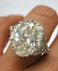 Estate Vintage 656Ct OVAL Diamond ENGAGEMENT by TreasurlybyDima, $85350.00