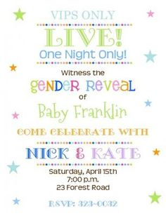 Dont break the bank on expensive invitations check out our creative way to announce your babys gender festive gender reveal party invites for stopboris Choice Image