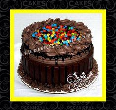 Chocolate Kit kat and M&M cake