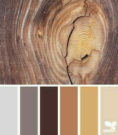 Love these wood colors