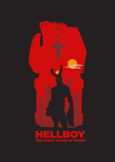 Hellboy graphic design study by Neal Andrew Lim, via Behance