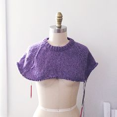 Как импровизировать сверху вниз свитер, Часть 3: отделка горловины и кокетка