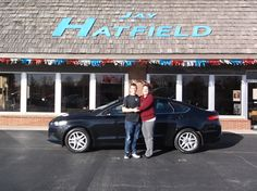 TONI's new 2014 ford fusion! Congratulations and best wishes from Jay Hatfield Ford and David Harrison.