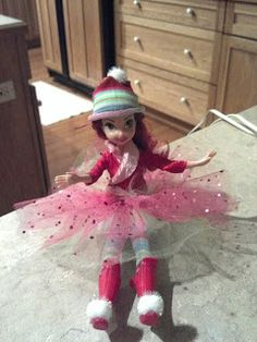 Elf on the Shelf | TheSarcasmButton DIY Girly Elf on the shelf from a fairy doll