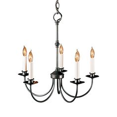 Hubbardton Forge 10705020CTO Simple Lines 5 Arm Chandelier Natural Iron Finish >>> Details can be found by clicking on the image. (This is an affiliate link) #HomeDecor