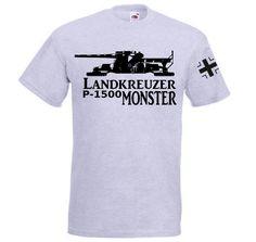 T-Shirt Landkreuzer P1500 Monster in der Farbe grau / mehr Infos auf: www.Guntia-Militaria-Shop.de