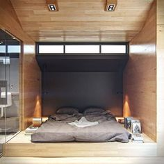The project of the day is a chic interior design project and not too expensive for a reconstruction of a residential house. The design of . Loft Spaces, Small Spaces, Living Spaces, Home Bedroom, Bedroom Decor, Bedroom Ideas, Bed Ideas, Bedroom Lighting, Decor Ideas