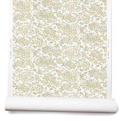 Small Daisy Wallpaper in Gray/Yellow
