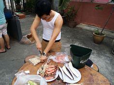 Preparing food for barbecue at Tropicana Ebi Fishing Barbecue, Fishing, Travel, Food, Viajes, Barbecue Pit, Bbq Grill, Eten, Trips