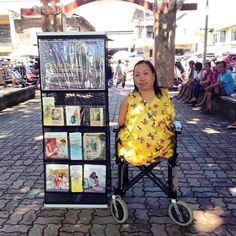 This is Sister Cynthia, a regular pioneer from the Philippines, and is a very good example for all of us, not making her condition from stopping her to serve Jehovah. Makes me think to do more in the ministry