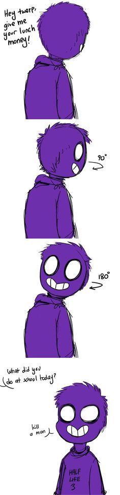 purple guy as a kid