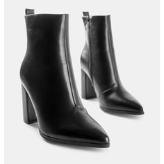 Μποτάκι Becky ψηλό τακούνι μαύρο από συνθετικό δέρμα. Το τακούνι του είναι ιδιαίτερα σταθερό και έχει ύψος 9 εκ. . Είναι από συνθετικό δέρμα σε μαύρο χρώμα .Διαθέτει φερμουάρ στο εσωτερικό του για πρακτικούς λόγους. Φόρεσε το από το πρωί με ripped jeans και oversized πουλόβερ αλλά και το βράδυ για πιο εντυπωσιακές εμφανίσεις με φορέματα και φούστες. Το συγκεκριμένο μποτάκι αποτελεί το απόλυτο must-have item της γυναικείας γκαρνταρόμπας, καθώς είναι basic κομμάτι. Booty, Ankle, Shoes, Fashion, Moda, Swag, Zapatos, Shoes Outlet, La Mode
