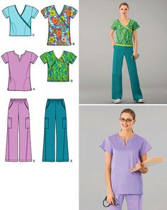 Simplicity Pattern 2871 Misses' Scrubs by sewingoodsaccesories, $6.00