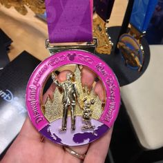 My motivation for running.  I want the Disney Coast to Coast half marathon medal.