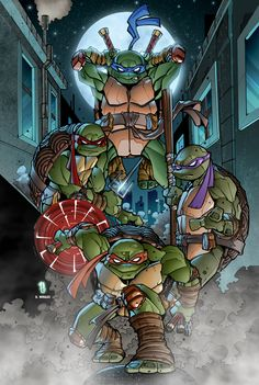 TMNT poster print by Puis Calzada colored by Dany-Morales.deviantart.com on @deviantART