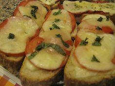 Partilhando Sabores e Receitas: Bruschettas de Tomate e de Bacon