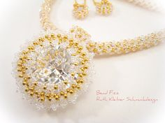 Beadwoven Bridal Necklace Crystal Necklace for the Bride