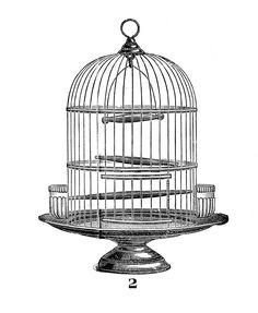 Vintage Clip Art - Victorian Bird Cage - The Graphics Fairy