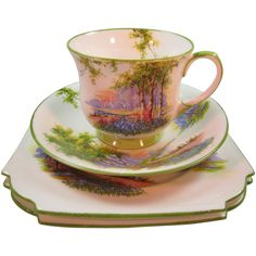 Four Piece set Aynsley China from The Steffen Collection Exclusively on Ruby Lane