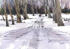 Shari Blaukopf - Through the Trees this Winter (Urban Sketchers)