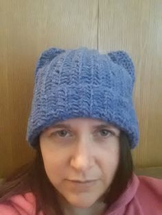 1d85e236a4653 Blue pussy hat pussyhat women s march hat wool by SlickeryKnits Womens  March Hat