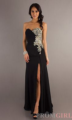 Strapless Prom Gown By Night Moves 6623 at PromGirl.com#prom#dress#promdress