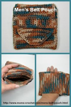 Father's Day Gift, or just something for a special Guy. Men's Belt Pouch. Free Pattern @ Mom's Crochet