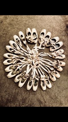 These are my pointe shoes that I have collected thru my 5 years on pointe.