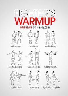 Fighter's warm-up routine. Boxer Workout, Boxing Training Workout, Home Boxing Workout, Kickboxing Workout, Workout Dvds, Workout Warm Up, Gym Workout Tips, No Equipment Workout, At Home Workouts