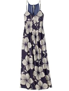 Maxi Dress. Don't like this material but I like the style.