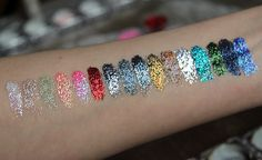 Lit Cosmetics glitter, swatches & review (how to apply loose glitter without making a mess)