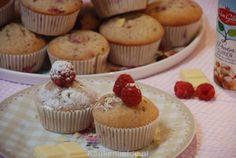 Cupcakes met frambozen en witte chocolade - Keuken♥Liefde