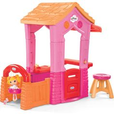 Jump into the world of Lalaloopsy with the official Lalaloopsy playhouse! Use this playhouse indoors or out. Your children will enjoy hours of magical, make believe fun. This playhouse is loaded with details to encourage active, imaginative play. In bright Lalaloopsy colors, too! $169