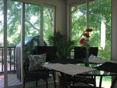 A wall of windows can give the illusion that you're dining in the treetops. Get a closer view of what nature has to offer each season in your new sunroom. http://www.dilloncompany.com/