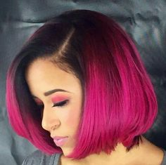 Free Ship Glueless Lace Front Wig Short Bob 1B/Pink Synthetic Heat Resistant Wig | Health & Beauty, Hair Care & Styling, Hair Extensions & Wigs | eBay!