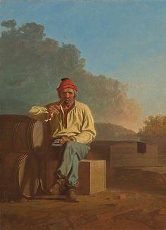 George Caleb Bingham   1850  Mississippi Boatman