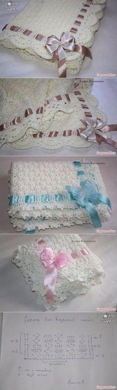 Ponto muito fofo para roupinhas e mantas de bebê. Espero fazer....