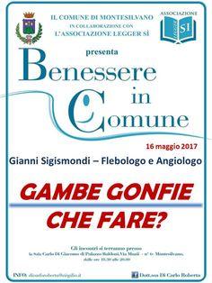 Gambe Gonfie: che fare? martedì 16 maggio seminario a Montesilvano