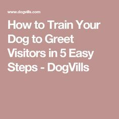 How to Train Your Dog to Greet Visitors in 5 Easy Steps - DogVills