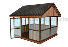 The pergola kits are the easiest and quickest way to build a garden pergola. There are lots of do it yourself pergola kits available to you so that anyone could easily put them together to construct a new structure at their backyard. 12x12 Gazebo, Large Gazebo, Screened Gazebo, Hot Tub Gazebo, Backyard Gazebo, Patio Roof, Enclosed Gazebo, Diy Pergola, Pergola Canopy