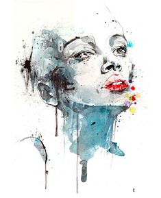 Watercolor Painting Of Girl