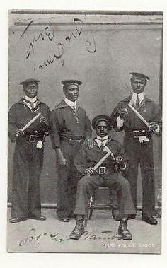Postcard 1911 Lagos Fire Police, Southern Nigeria. Publisher: Photoholm.