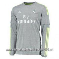 Comprar Camiseta de fútbol baratas manga larga Real Madrid 2016 2ª  equipación Madrid 2016 af6a6e01e0965