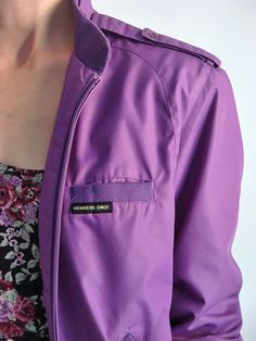 Light rain jacket and color remind me of Spring - love Purple : ) & Floral  - Members Only Jackets